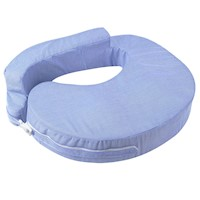 Foam Breast Feeding Pillow w/ Zip Cover Blue