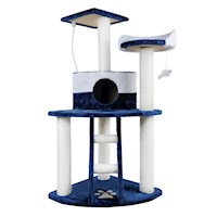 Cat Scratching Pole Tree Tower w/ Ladder Blue 120cm