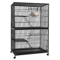 Large Multi-Level Ferret Bird Cage w/ Wheels 140cm