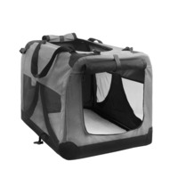 XXXL Travel Dog Cat Pet Soft Crate Carrier in Grey