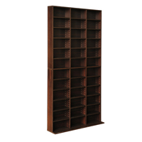 Adjustable Bookshelf Storage Shelving Unit Espresso