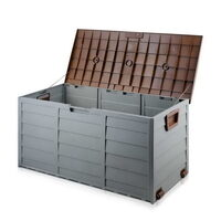 290L Waterproof Plastic Outdoor Storage Box - Brown