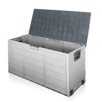 290L Waterproof Plastic Outdoor Storage Box - Grey