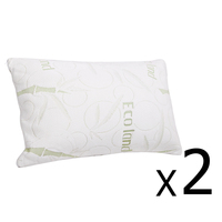 2 Fabric Cover Shredded Memory Foam Pillow 70x40cm