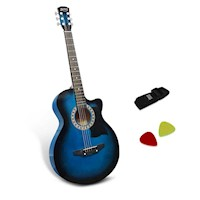 Wooden Auditorium Acoustic Guitar in Blue 38inch