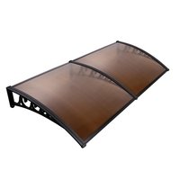 DIY Window & Door Awning Cover in Brown 100x200cm