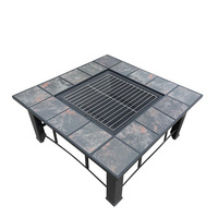 Outdoor Fire Pit, Grill or BBQ Table w/ Ice Bucket