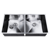 Kitchen/Laundry Sink with Waste Strainer 865x440mm