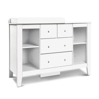 Baby Change Table Station with 4 Drawers in White