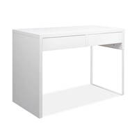 White Study Computer Office Desk with 2 Drawers