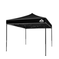 3M X 3M Pop-Up Garden Outdoor Gazebo Black