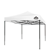 Outdoor PVC Fabric Pop-Up Garden Gazebo White 3x3m