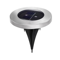 Set Of 6 Led Solar Powered Garden Ground Light