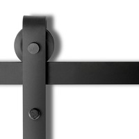 Sliding Door Track Hardware Powder Coat Steel Black
