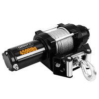 Electric ATV 4WD Steel Wire Winch w/ Remote 4500lbs