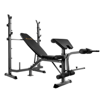 Black Multi-Functional Fitness Weight Bench