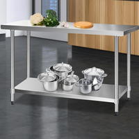 Steel Portable Commercial Metal Kitchen Work Bench