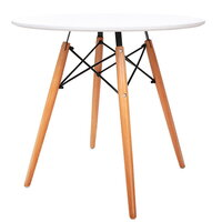 Replica Eames DSW Eiffel Round Dining Table White