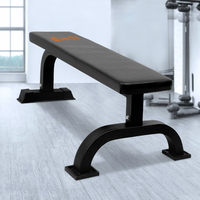 Everfit Gym Flat Weight & Exercise Bench in Black