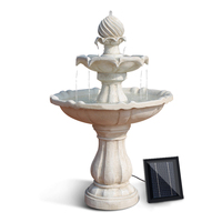Ivory Solar Powered 3 Tier Water Fountain Bird Bath