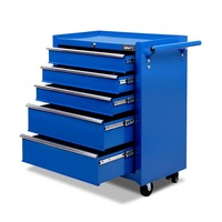 PREORDER 5 Drawer Roller Toolbox Cabinet in Blue
