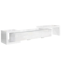 Extendable TV Stand Entertainment Unit Gloss White