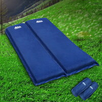 Double Air Self Inflating Sleeping Mat in Blue 10cm