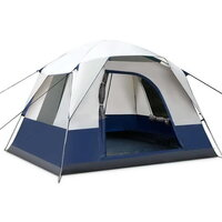 4 Man Person Family Camping Tent in Navy Grey
