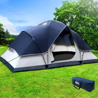6 Person Family Dome Camping Tent in Navy Grey