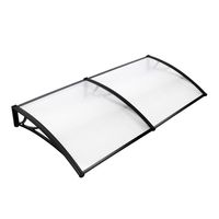 DIY Window Door Awning Cover Transparent 100x200cm