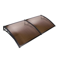 DIY Window Door Awning Cover Brown 100 X 200cm