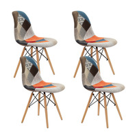 4x Fabric Eiffel DSW Dining Chair Eames Replica
