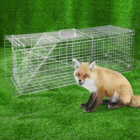 Humane Animal Trap Cage in Silver - 94 x 34 x 36cm