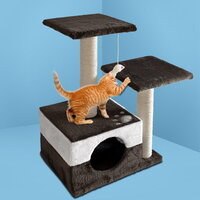 Cat Scratching Posts & House 70cm in White & Grey
