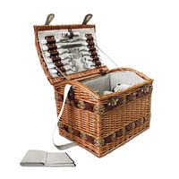 Picnic Basket Set for 4 w/ Cheese Board & Blanket