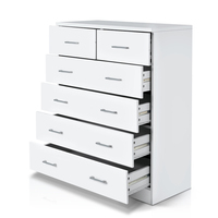 Bedroom Tallboy Dresser Chest of 6 Drawers White