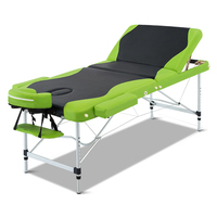 Aluminium Foldable Massage Table Green Black 75cm