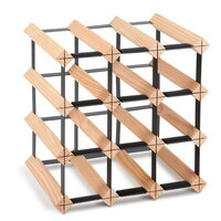12 Bottle Timber Wine Rack Wine Storage System