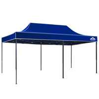 Portable Outdoor Canopy Pop Up Gazebo in Blue 3x6m