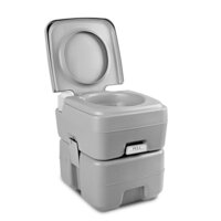 Weisshorn Camping Pump Flush Portable Toilet 20L