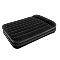 Queen Size Camping Air Mattress Bed w Pump in Black