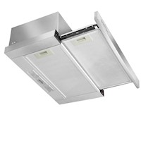 Stainless Steel Slide Out Kitchen Rangehood 90cm