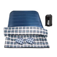 Camping Envelope Double Sleeping Bag in Navy