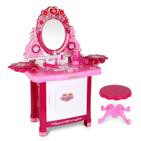 30 Piece Pink Kids Play Set Make Up Dresser