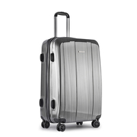 4 Wheel Hard Travel Luggage Suitcase in Grey 28in