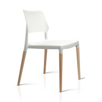 4x Belloch Replica Dining Chairs in White
