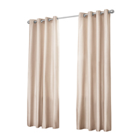 2x Artqueen Eyelet Blockout Curtains in Latte 180cm