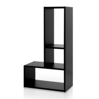 3 Shelf L Shaped Display Storage Unit in Black