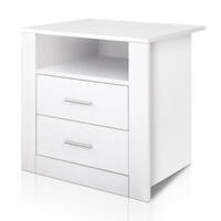 Bedside tables for sale online huge range massive discounts anti scratch bedside table w 2 drawers in white watchthetrailerfo
