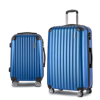 2 Size Hard Suitcase Travel Luggage Set in Blue